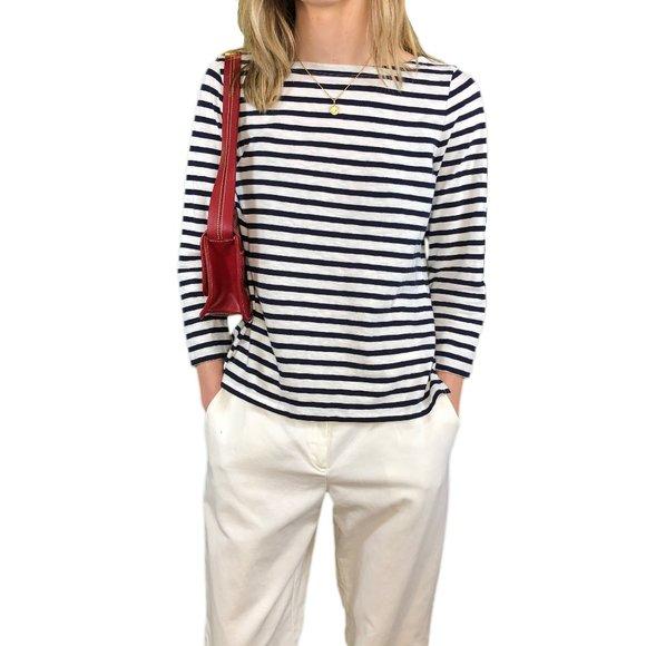 J.Crew women's boat neck 3/4 sleeve t-shirt